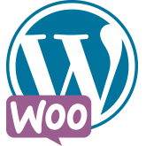 WordPress with WooCommerce logo